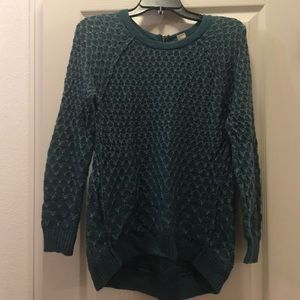 Anthropologie Moth high low honeycomb sweater